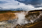 Thermal area near Reykjavik, Iceland, Scandinavia, Europe
