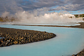 Blue Lagoon thermal power plant near Reykjavik, Iceland, Scandinavia, Europe