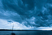 Dark clouds at Lake Starnberg, Upper Bavaria, Germany, Europe