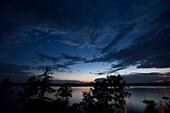 Abendhimmel am Starnberger See, Oberbayern, Deutschland, Europa
