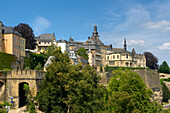 The St. Michaelis church in the sunlight, Luxemburg, Luxembourg, Europe