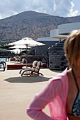 Terrace at the Yachting Club Villas, Elounda Beach Resort, Elounda, Crete, Greece