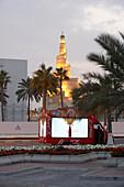 Illuminated mosque Islamic Cultural Centre, Doha, Qata