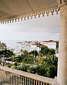 House of Wonder (national Museum), view over harbour area, Stone Town, Zanzibar, Tanzania, East Africa