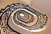 Wrought-iron handrail of a staircase, Trento, Trentino, Alto Adige, Italy, Europe