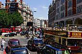 Street scene, Knightsbridge, London, England, United Kingdom, Great Britain, Europe
