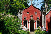 The Red House at Roccoco Gardens, Painswick, Gloucestershire, Cotswolds, England, Great Britain, Europe