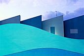 Aussen, Blau, Farbe, Gebäude, Geometrie, Haus, Horizontal, Niemand, Tag, Welle, Zeitgenosse, L77-625433, AGEFOTOSTOCK