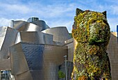 Puppy at the Guggenheim Museum in Bilbao, sculpture by Jeff Koons, Euskadi, Spain