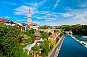 Munster Cathedral of Bern and the Aare River, Bern, Canton Bern, Switzerland