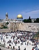 city, crowd, dome, Israel, Jerusalem, Middle East, . City, Crowd, Dome, Holiday, Israel, Near East, Jerusalem, Landmark, Middle east, People, Tourism, Travel, Vacation, Wailing, Wai