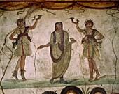 fresco, House of the Vettii, Italy, offering, Pompe. Fresco, History, Holiday, House of the vettii, Italy, Europe, Landmark, Offering, Pompeii, Roman, Tourism, Travel, Vacation