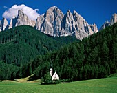 church, craggy, dolomite, dolomite mountains, isola. Church, Craggy, Dolomite, Holiday, Isolated, Italy, Europe, Landmark, Lush, Mountains, Picturesque, Secluded, Tourism, Travel, V