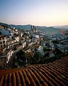 church, city, Mexico, rooftops, Santa, Santa Prisca. Church, City, Holiday, Landmark, Mexico, Prisca, Rooftops, Santa, Taxco, Tourism, Town, Travel, Vacation, World travel