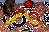 aboriginal, aboriginie, artwork, Australia, body pa. Aboriginal, Aboriginie, Artwork, Australia, Body part, Brush, Color, Dye, Hand, Hobby, Holiday, International, Landmark, Mosaic