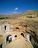 Africa, homes, houses, Matmata, troglodyte, Tunisia. Africa, Holiday, Homes, Houses, Landmark, Matmata, Tourism, Travel, Troglodyte, Tunisia, Vacation, World travel