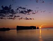 Canada, horizon, isolated, isolation, lake, ocean, . Canada, North America, Holiday, Horizon, Isolated, Isolation, Lake, Landmark, Ocean, Perce, Perce rock, Quebec, Rock, Silhouette