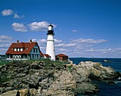 atlantic, Cape Elizabeth, cliff, coast, lighthouse, . America, Atlantic, Cape elizabeth, Cliff, Coast, Holiday, Landmark, Lighthouse, Maine, Northeast, Portland head light, Rocks, Ro