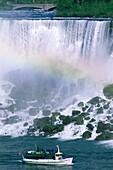 boat, falls, New York, Niagara, rainbows, rocks, US. America, Boat, Falls, Holiday, Landmark, New york, Niagara, Rainbows, Rocks, Tourism, Travel, United states, USA, Vacation, Wate