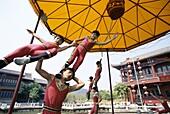 Acrobatics, Children Performing, China, Asia, Shang. Acrobatics, Asia, Children, China, Holiday, Landmark, Performing, Shanghai, Tourism, Travel, Vacation