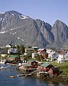 Lofoten Islands, Mountains, Norway, Reine, Town Vie. Holiday, Islands, Landmark, Lofoten, Mountains, Norway, Europe, Reine, Tourism, Town, Travel, Vacation, View