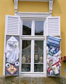 Danube Bend, Hungary, Souvenir Shop Window, Szenten. Bend, Danube, Holiday, Hungary, Europe, Landmark, Shop, Souvenir, Szentendre, Tourism, Travel, Vacation, Window