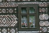 Cicmany, Decorative Patterns, Slovakia, Mountain Re. Cicmany, Decorative, Holiday, House, Landmark, Mountain, Painting, Patterns, Regions, Slovakia, Europe, Tourism, Traditional, Tr