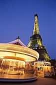 Carousel, Eiffel Tower, France, Night View, Paris, . Carousel, Eiffel, Eiffel tower, France, Europe, Holiday, Landmark, Night, Paris, Tour, Tourism, Travel, Vacation, View