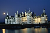 Chambord, Chambord Castle, Chateau de Chambord, Clo. Castle, Chambord, Chateau, Closson, France, Europe, Holiday, Landmark, Loire valley, Night, River, Tourism, Travel, Vacation, Vi