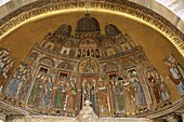 Basilica di San Marco, Body of St Mark being carrie. Basilica, Being, Body, Carried, Façade, Heritage, Holiday, Into, Italy, Europe, Landmark, Marco, Mark, Mark´s, Mosaics, San, The