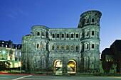 Germany, Mosel Valley, Night View, Porta Nigra, Rhi. Black gate, Germany, Europe, Heritage, Holiday, Landmark, Mosel, Night, Porta nigra, Rhineland, Tourism, Travel, Trier, Unesco