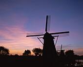 Holland, Kinderdijk, Netherlands, Silouhette, Sunse. Holiday, Holland, Europe, Kinderdijk, Landmark, Netherlands, Silouhette, Sunset, Tourism, Travel, Vacation, Windmills
