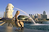 Asia, Bird, Fountain, Merlion, Merlion, Statue, Pel. Asia, Bird, City, Fountain, Holiday, Landmark, Merlion, Pelican, Singapore, Skyline, Statue, Suntec, Tourism, Travel, Vacation