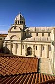 Croatia, Sibenik, cathedral Saint-Jacques, listed as a World Heritage site by UNESCO, dated 15 - 16 th  century, gothic and Renaissance style