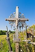 Kriziu kalnas, The Hill of Crosses, a site of pilgrimage, 12 km north of the city of Siauliai, Lithuania