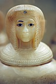 canopic jar, Museum of Egyptian Antiquities, Cairo, Egypt, Africa