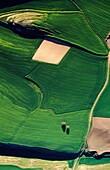 Farmlands  Aerial view of Bureba region  Burgos  Castile-Leon  Spain  The Way of Saint James