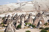 geological formations, area of zelve, landscape, cappadocia, anatolia, turkey, asia