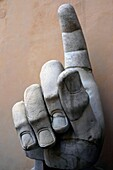 The colossal hand statue of Constantine Capitoline museum Rome Italy