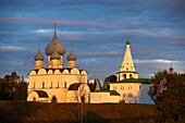 Russia, Rossiya, Vladimir Oblast, Golden Ring, Suzdal, Unesco world heritage, Fortified citadel ´kremlin´  Cathedral of the Nativity, 12th century, and domed belfry
