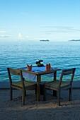 Thailand, Siam gulf, Ko Samui island, restaurant on the north of the island