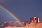 Rainbow´s end in Monument Valley, Navajo Nation, USA