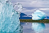 Glacial iceberg detail from ice calved off the LeConte Glacier near Petersberg, Southeast Alaska, USA, Pacific Ocean  MORE INFO LeConte Glacier is the southernmost tidewater glacier in North America  Like most of the 100, 000 glaciers in Alaska the LeCont