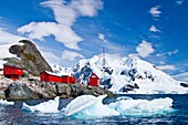Views of paradise bay, Antarctic Peninsula, Antarctica, Southern Ocean  MORE INFO Paradise Bay is the location of two research stations, the Argentinan scientific base Almirante Brown Antarctic Base and the Chilean scientific base Gabriel González Videla
