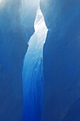 Close-up view of a crevasse in a huge Iceberg calved from the LeConte Glacier just outside Petersburg, Southeast Alaska, USA  Pacific Ocean