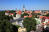 Estonia, Tallinn, skyline, general panoramic view