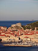 Croatia, Dubrovnik, general aerial view