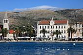 Croatia, Trogir, skyline, general view, seaside promenade