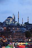 'Turkey; Istanbul; Eminönü, docks, Suleymaniye, Rustem Pasha, mosques, '