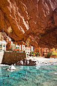 Morocco-South Morocco-Atlas Mountains-Near Tinghir City-Todra Valley-Todra Gorges-Natural Water Spring